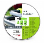 10-192 Комплект за поливане / измиване ECOLIGHT 3/4'' 20 m маркуч + комплект връзки за маркуч и струйник
