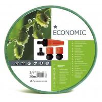 """10-102 Комплект за поливане / измиване ECONOMIC 3/4"""" 20 m маркуч + комплект връзки за маркуч и струйник"""