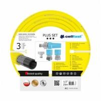 """10-290 Комплект за поливане / измиване PLUS 1/2"""" 25 m + комплект връзки за маркуч и струйник, размер (цол): 1/2'' , дължина: 25m"""