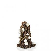 46146 Декорация biOrb Shells on bark ornament миди върху кора , бял