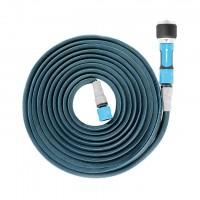 19-042 Комплект за поливане / измиване маркуч ZYGZAG удължаващ се от 15m до 30m,+ комплект връзки за маркуч и струйник