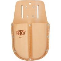 FELCO 921 Калъф от естествена кожа с две отделения с гайки за поставяне на колан и метална щипка за окачване